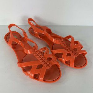 Mel by Melissa Jelly Sandals Hot Pink Coral 7